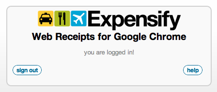 Expensify Google Chrome Extension